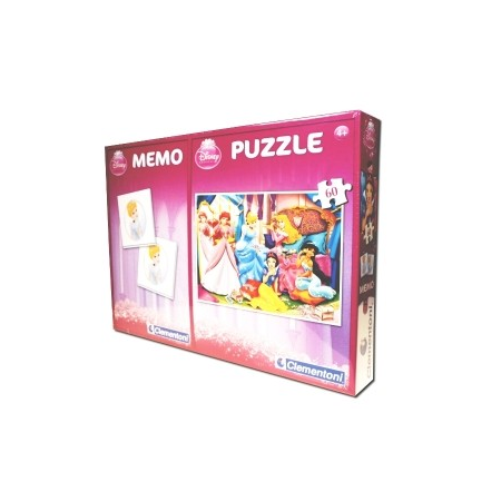 PUZZLE 60 el. + MEMO POCKET PRINCESS