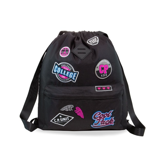 WOREK PLECAK URBAN BADGES G BLACK COOLPACK 2019