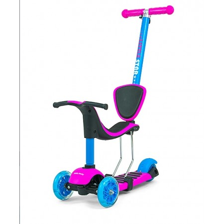 HULAJNOGA ROWEREK Scooter Little Star Pink-Blue B1